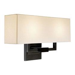 Sonneman Lighting - Sonneman Lighting 3384.51 Hanover Wall Sconce In Black Brass - Sonneman Lighting 3384.51 Hanover Wall Sconce In Black Brass