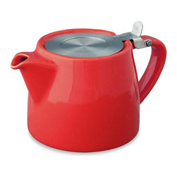 ForLIFE - FORLIFE Stump 18-Ounce Teapot with Stainless Steel Lid and Infuser, Red - Dishwasher safe