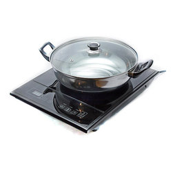 Total Chef - Total Chef TCIS11BNG Induction Cooktop Single Burner - This Total Chef induction cooktop features a single burner that transfers heat directly to magnetic cookware. Any part of the induction cooktop that doesn't have a pot on it will not get hot. This cooktop single burner includes a pot and glass lid.