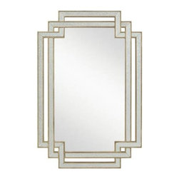 Kichler - Kichler 78205 Hayworth Modern Wall Mounted Mirror in Silver Various 78205 - Hayworth modern wall mounted mirror in silver various.Bulbs Included: No Collection: Hayworth Country of Origin: China Energy Efficient: No Extends: 1 Finish: Silver Various Height: 38 Mirror Shape: Rectangular Style: Transitional Weight: 17.5 Width: 25
