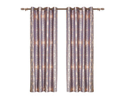 Dolce Mela - Dolce Mela DMC468 Window Treatments Damask Drapes Iris Curtain Panels - Light slate-blue symmetrical jacquard paisley motifs are floating on a simmering silver background to create an impressive design for an upscale window dressing to satisfy the affluent decor.