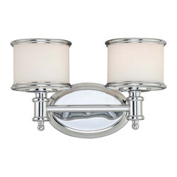 Vaxcel - Carlisle Light Vanity - Vaxcel CR-VLU002CH Carlisle Chrome 2 Light Vanity