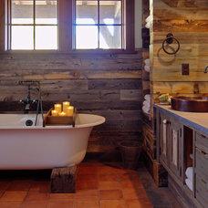 Rustic Bathroom by Terra Firma Custom Homes