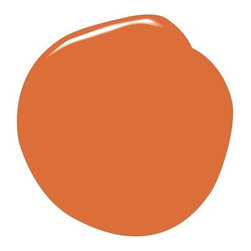 Benjamin Moore Natura Paint, Orange Parrot - Benjamin Moore's Orange Parrot turns walls tangerine.