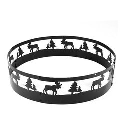 "Sunnydaze Decor - 36in Wild Moose Campfire Ring - Dimensions: 36"" in diameter x 10""H, 11 lbs"