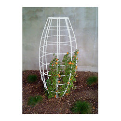 TerraTrellis - Toki Bubble Trellis - Create volume and vertical real estate with a bubble-shaped garden trellis. Train your morning glories to reach new heights and save space in your garden to maximize your harvest or visual appeal.