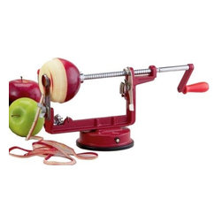 Mrs. Anderson's Apple Peeling & Coring Machine - Mrs. Anderson's super apple peeling and coring machine peels and cores apples and potatoes quickly and easily. Great for peeling and coring apples for pies or a bunch of potatoes for mashing. Slices and cores  or just peels. The suction cup mount keeps it in place on about any surface  and the machine simply wipes clean after each use.