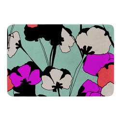 "KESS InHouse - Gabriela Fuente ""Vintage Flowers"" Memory Foam Bath Mat (24"" x 36"") - These super absorbent bath mats will add comfort and style to your bathroom. These memory foam mats will feel like you are in a spa every time you step out of the shower. Available in two sizes, 17"" x 24"" and 24"" x 36"", with a .5"" thickness and non skid backing, these will fit every style of bathroom. Add comfort like never before in front of your vanity, sink, bathtub, shower or even laundry room. Machine wash cold, gentle cycle, tumble dry low or lay flat to dry. Printed on single side."