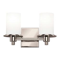 Kichler Lighting - Kichler Lighting 5437PN Cylinders Polished Nickel 2 Light Vanity - Kichler Lighting 5437PN Cylinders Polished Nickel 2 Light Vanity