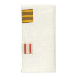 Sunbrella Performance Art's 100% Linen Napkins - Brittany Stripe Flags Napkin