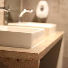 Modern Bathroom Countertops by Reg Noël Design Inc.