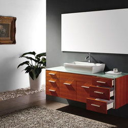 "60"" De Luca Single Bath Vanity - Maple (147-140-5311) -"