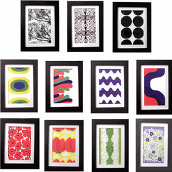 Marimekko Framed Prints - If you love classic Marimekko prints but don't have room for a large canvas, these small framed prints are a wonderful solution. Choose from eleven different Maija Isola prints, or buy them all!
