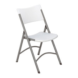 National Public Seating - National Public Seating Lightweight Blow Molded Folding Chair - 4 Pack - 602 - Shop for Folding Chairs from Hayneedle.com! Perfect for seating guests at any social gathering the set of four 600 N Series Folding Chairs sport lightweight smart styling that lasts for years. Designed for compact and convenient storage these chairs suit both professional entertainment venues and casual home use. The seat and backrest are crafted from top-quality stain-resistant blow-molded resin plastic and the lightweight metal frame is protected by a powder-coat finish. Available in your choice of color combinations. Order the 600 N Series Chair set today to make all your social events a success. About National Public SeatingNational Public Seating provides seating products of the highest quality grade materials and craftsmanship for educational religious hospitality government commercial and other institutional markets. Incorporated in 1997 National Public Seating is based in Clifton N.J. and offers one of the nation's largest lines of quick-ship in-stock folding chairs and tables stack chairs stools and dollies. Other product lines include stages risers science tables and mobile cafeteria tables. Their high-quality products are currently in use in tens of thousands of facilities nationwide. National Public Seating is committed to preserving the quality of their products and the quality of the environment. To this end the company manufactures their products with varying percentages of pre- and post-consumer waste (recycled material). All of the steel for their products contains 30-40% of post-consumer waste and their plastic products contain up to 35% of pre-consumer waste. All of the wood used for their products comes from non-boreal forests. National Public Seating also uses powder-coat finishes instead of liquid finishes in order to prevent pollutants from being released into the atmosphere and to reuse retrieved overspray. All these efforts and more help 