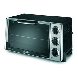 DeLonghi - Convection Oven, 0.9Cf - The Delonghi RO2058 Convection Toaster Oven with Rotisserie boasts a rotisserie spit that is easy to detach, load and clean. It is used in conjunction with a bake pan for convenient cleaning. Features include bake, broil, toast, slow bake, or keep warm. And the non-stick interior makes cleanup quick and effortless. This 0.7 cu. ft. oven also comes with a 7-minute timer with automatic shut-off for toast.Large (20-liter, 0.7 cu. ft.) cavity fits 12 inch pizza|Large 6-slice toast capacity|Rotisserie spit is easy to detach, load and clean|Bake, broil, toast, slow bake, convection fan/bake, rotisserie or keep warm|Interior light and removable crumb tray|Two-tier cooking|Non-stick interior for easy clean-up|7-minute timer with automatic shut-off for toast|Includes bake pan, broil tray and rotisserie pan|  delonghi| ro2058| convection toaster oven| oven with rotisserie| toaster oven| convection oven| black  Package Contents: toaster oven|bake pan|broil tray|rotisserie pan|rotisserie spit|manual|warranty  This item cannot be shipped to APO/FPO addresses