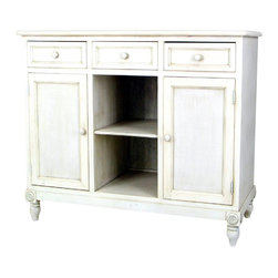 Wayborn - Wayborn Brookfield Sideboard in Whitewash - Wayborn - Buffet Tables and Sideboards - 5611W