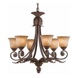 Triarch International - Triarch 39613 Vienna Weathered Bronze 6 Light Chandelier - Triarch 39613 Vienna Weathered Bronze 6 Light Chandelier