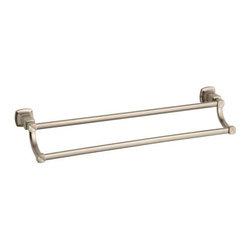 """KOHLER - KOHLER K-16253-BV Margaux 24"""" Double Towel Bar - KOHLER K-16253-BV Margaux 24"""" Double Towel Bar in Brushed Bronze"""