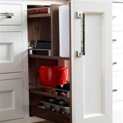 Trish Namm - Paper Towel Storage by Quality Custom Cabinetry available through Kent Kitchen Works