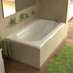 Venzi - Venzi Irma 36 x 60 Rectangular Air Jetted Bathtub - The Irma bathtubs feature a compact rectangular design with an oval opening. Molded arm and back rests provide exceptional comfort, while preventing falling accidents.
