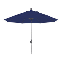 California Umbrella - 11 Foot Olefin Crank Lift Collar Tilt Aluminum Patio Umbrella, Bronze Pole - California Umbrella, Inc. has been producing high quality patio umbrellas and frames for over 50-years. The California Umbrella trademark is immediately recognized for its standard in engineering and innovation among all brands in the United States. As a leader in the industry, they strive to provide you with products and service that will satisfy even the most demanding consumers.
