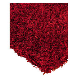 """Natural Area Rugs - """"Carnation"""" Shag Rug, 100% Hand Woven Polyester, Soft & Thick Pile,, Red, 6 Ft. - Free & Same Day Shipping within Continental USA. International Shipping Available (Contact us for a quote). Hand crafted & tufted by Artisan rug maker. Made of polyester with 100% cotton backing. Soft and cozy, shag rugs are a great addition to any room. With 2"""" long & thick piles, these rugs are soft a to the touch. These distinct rugs may seem fragile but are extremely durable. Due to the nature of these hand-tufted rugs, shedding may occur for the first few uses but will diminish over time. Rug Pad Recommended (Sold Separately)."""