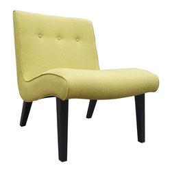#N/A - Mancini Lounge Chair Green - Mancini Lounge Chair Green. Contemporary style. Armless chair. Accent chair.
