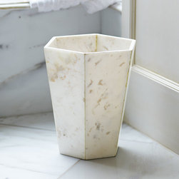 Philosopher's Marble Wastebasket - I love the marble look of this bin. It would work well in a marble or all-white bathroom.