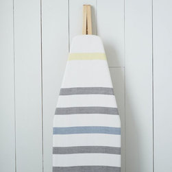 Cotton Ironing Board Cover, Belize Stripe - Brighten up your laundry room with this sweetly striped cotton ironing board cover. I just love how fresh and clean it looks!