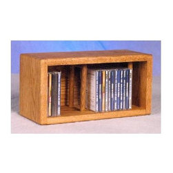 Wood Shed - 14.5 in. Desktop CD Storage (Unfinished) - Finish: UnfinishedOne shelf. Capacity: 28 CD's. Made from solid oak. Honey oak finish. 14.5 in. W x 6.5 in. D x 7.25 in. H