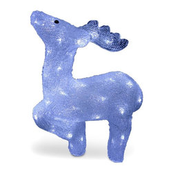 National Tree Company - 17 in. Acrylic Standing Deer - JMAR-17LV - Shop for Holiday Ornaments and Decor from Hayneedle.com! Prancer Dancer or maybe even Vixen no matter which reindeer the 17 in. Acrylic Standing Deer represents it's handsome. Perfect for outdoor or indoor holiday display this deer comes pre-lit with 60 clear LED lights for a bright lasting glow. It features a sturdy frame and is easy to set up. About National Christmas ProductsNational Christmas Products isn't quite Santa's workshop but they're getting closer with each passing year. A variety of holiday decor products are offered by the company including wreaths garlands Christmas trees and more. Each of the greenery products are artificial for a long-lasting indoor/outdoor design but feature a Feel-Real aesthetic that's nearly indistinguishable from a fresh-cut tree. Several sizes and colors of trees are available with many pre-lit options. Whatever your need National Christmas Products is here to serve.