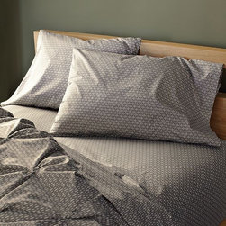 New Organic Rice Sheet Set - west elm's signature Frayed Edge Sheets, reinvented with a tiny Japanese print. A graphic micro-pattern of abstracted rice grains updates this best-selling, certified-organic cotton sheet set. The tight pattern layers well with larger-scale prints and solids.