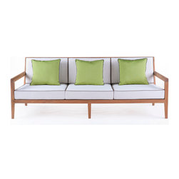 Link Outdoor - Sand Dollar - Sand Dollar Sofa, designed by Doug Levine, a soft contemporary collection of outdoor seating perfectly proportioned for comfort.