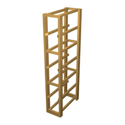 EcoWineracks Lower Magnum Rack, Golden Color, Clear Acrylic Finish - EcoWineracks are the worlds only traditional style wine racks made from non-forested and sustainable bamboo. Bamboo is superior to wood in strength and durability, is non-warping and has consistent grain.