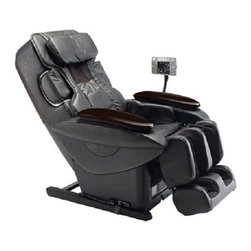 """Panasonic EP30007KX Full Zero G Body Scan Massage Chair Recliner w/ Remote - A Tailored Massage -Using pressure sensor technology, the Ultra creates a virtual map of your back. The massage you receive is contoured to your height and your spine's curve. Real Pro Ultra scans your body and is able to identify you. The """"floating"""" massage heads glide over your back and know where to massage and where not to. You create your own customizable program, which Ultra remembers for the next time you're ready for a massage. The air bags conform to your body, and the Air Ottoman System even extends to open/closed to accommodate any height.The """"Junetsu"""" Massage Technique: A Panasonic Exclusive -Junetsu, the Japanese word for """"ultra-fine kneading,"""" is based on the one-second circular thumb movements of professional massage therapists. Junetsu quickly loosens up tight muscles, and the spiral circular motion reverberates down through the muscles to invigorate you down to the surface of your bones.Reflexology -For professional, personalized massage therapy on your feet, the Real Pro Ultra utilizes adjustable and removable plates to incorporate reflexology into the massage experience. This reflexology stimulates additional massage points on your feet, increasing blood and energy flow throughout your body.Acupoints -You have approximately 350 acupoints on your body, with nearly 100 on your back and neck alone. From the soothing palm style of Swedish massage, to deep tissue kneading, to Shiatsu massage, the Real Pro Ultra has a variety of techniques for invigorating these energy acupoints1314aAdvanced Quad-Style Massage TechnologyMassage heads that open and close - these four massage styles can be chosen during a massage:- Shiatsu- Swedish - Fist Kneading- GraspingRelax, Rejuvenate, InvigorateIncrease circulation, relieve tension and increase energy with 460 square inches of air massage:- Arm & Palm Massage -Increase circulation and warmth, removes tension.- Shoulder Massage -Gently stim"""