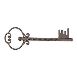 Creative Co-Op - Metal Key Wall Hook Hanger - Dainty hooks make for a stylish organizational tool, while a vintage-inspired silhouette boasts all the charm of yesteryear.   59.91'' W x 16.75'' H x 1.13'' D Metal Imported