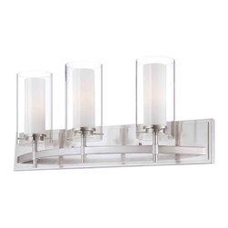 Forecast Lighting - Forecast FV0001836 Hula Satin Nickel 3 Light Vanity - Forecast FV0001836 Hula Satin Nickel 3 Light Vanity