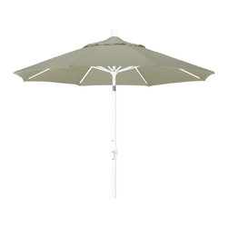 California Umbrella - 9 Foot Pacifica Aluminum Crank Lift Collar Tilt Patio Umbrella, White Pole - California Umbrella, Inc. has been producing high quality patio umbrellas and frames for over 50-years. The California Umbrella trademark is immediately recognized for its standard in engineering and innovation among all brands in the United States. As a leader in the industry, they strive to provide you with products and service that will satisfy even the most demanding consumers.