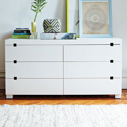 Square Cutout 6-Drawer Dresser
