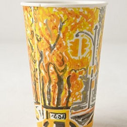 Gwyneth Leech - Ceramic Sketch Cup - *An Anthropologie exclusive by Gwyneth Leech
