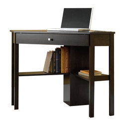 Sauder - Sauder Corner Computer Desk in Cinnamon Cherry Finish - Sauder - Computer Desks - 412003