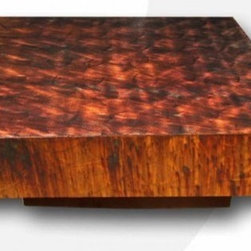 Custom Contemporary Furniture - This stunning contemporary coffee table will be a functional focal point for your living space. Our line of metal furniture is as customizable as it is unique. These pieces may be customized in terms of size, shape, color, pattern, and leg options.