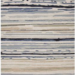 """Jaipur Rugs - Colours I-O Gray Abstract Rug - Features: -Technique: Hooked / Looped cut.-Material: Polypropylene.-Origin: China.-Indoor and outdoor style.-Durable.-Easy care.-Luxurious and unique.-Polyester is dirt and stain resistant and will look great for a long time just by vacuuming regularly.-Dries fast so deep steam/rug cleaning works great to release dirt from fiber.-If spills occur blot immediately.-Use rug/carpet cleaners that are safe on synthetic fibers.-Use professional cleaning agents only.-Vacuum use an attachment arm or suction only to remove dirt particles.-Construction: Handmade.-Collection: Colours I-O.-Distressed: No.-Collection: Colours.-Construction: Hand Hooked.-Technique: Indoor & Outdoor.-Primary Pattern: Abstract.-Primary Color: Classic Gray.-Border Material: Polypropylene.-Border Color: Classic Gray.-Type of Backing: Latex backing.-Material: Polypropylene.-Fringe: No.-Reversible: No.-Rug Pad Needed: No.-Water Repellent: No.-Mildew Resistant: No.-Stain Resistant: No.-Fade Resistant: No.-Eco-Friendly: No.-Outdoor Use: Yes.-Product Care: (1) Polyester is dirt and stain resistant and will look great for a long time just by vacuuming regularly, (2) Dries fast so deep steam/rug cleaning works great to release dirt from fiber, (3) If spills occur blot immediately, (4) Use rug/carpet cleaners that are safe on synthetic fibers, (5) Use professional cleaning agents only, (6) To vacuum use an attachment arm or suction only to remove dirt particles.Specifications: -CRI certified: No.-Goodweave certified: No.Dimensions: -Pile height: 0.25"""".-Pile Height: .25"""".-Overall Product Weight (Rug Size: 2' x 3'): 2.4 lbs.-Overall Product Weight (Rug Size: 3'6"""" x 5'6""""): 7.7 lbs.-Overall Product Weight (Rug Size: 5' x 7'6""""): 15 lbs.-Overall Product Weight (Rug Size: 7'6"""" x 9'6""""): 28.5 lbs.-Overall Product Weight (Rug Size: Runner 2'6"""" x 8'): 8 lbs.Warranty: -Product Warranty: 60 Days."""