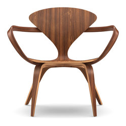 Cherner - Cherner Lounge Arm Chair | Smart Furniture - The Cherner Lounge Chair is made using the same design aesthetic as the 1958 Cherner molded plywood chair, with a completely molded plywood construction and arms that describe sweeping curves. Optional seat and back pad in leather.