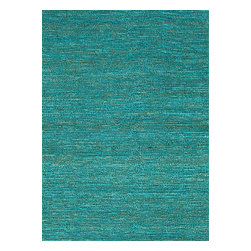 Jaipur Rugs - Naturals Solid Pattern Jute Blue/Area Rug (3.6 x 5.6) - The popular Calypso Collection is proof that simplicity is a wonderful approach to decoration. Crafted of natural jute, each rug is expertly woven by hand to our impeccable standards of quality for a relaxed feel of comfort. In rich colors ranging from eye-catching jewel tone to highly functional neutrals, the Calypso Collection will add texture and dimension wherever it is placed.