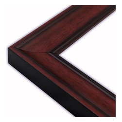 The Frame Guys - Scooped Mahogany with Black Lip Picture Frame-Solid Wood, 10x10 - *Scooped Mahogany with Black Lip Picture Frame-Solid Wood, 10x10