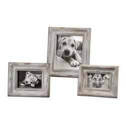 Uttermost - Wood Niho Picture Frames Set of 3 - Wood Niho Picture Frames Set of 3
