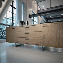 For Sale on HauteBox.co - this sleek modern sideboard/dining buffet provides ample amount of storage and style. greenwich sideboard available at hautebox.co