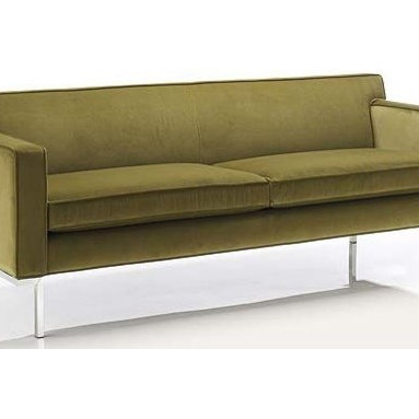 Theatre Sofa - Fabric 3, Cargo - Design Within Reach - This handsome sofa has clean lines that don't make you have to skimp on comfort. We are especially fond of how it seems to float on delicate metallic legs.