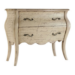 Hooker Furniture - L'Inspiration Script Chest - If you don't speak French, you will after spending a few weeks with this chest. A gorgeous addition to your traditional decor, this chest will look equally enchanting in your foyer or your bedroom. Can you say Vive la France?
